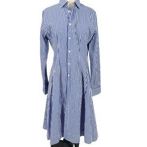Polo Ralph Lauren Striped Long FITTED Shirt Dress